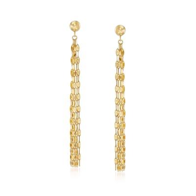 14kt Yellow Gold Tassel Drop Earrings