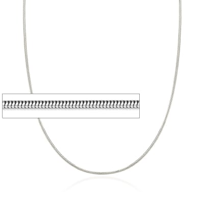 1.4mm 14kt White Gold Snake Chain Necklace