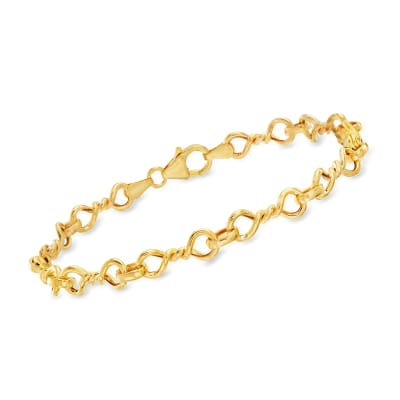 Italian 14kt Yellow Gold Twisted-Link Bracelet