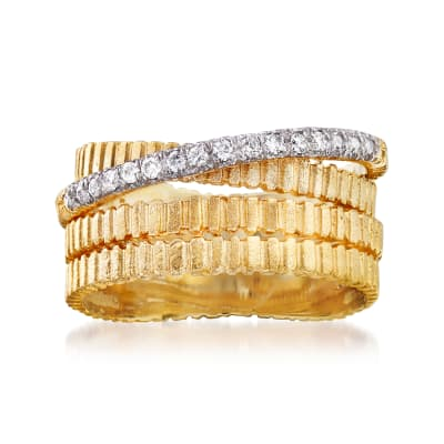 .10 ct. t.w. Diamond Multi-Row Ring in 14kt Yellow Gold