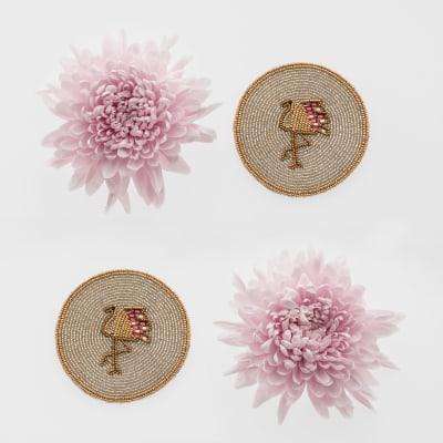 Joanna Buchanan Set of 4 Flamingo Coasters