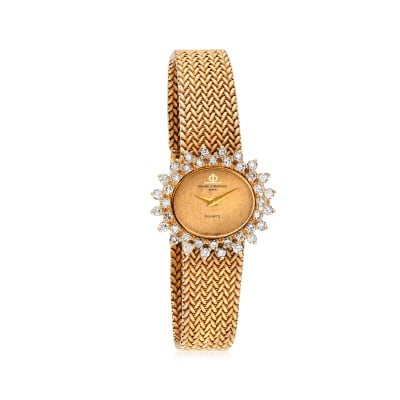 C. 1980 Vintage Baume & Mercier Women's 28mm 1.60 ct. t.w. Diamond Watch in 18kt Yellow Gold