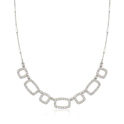 2.50 ct. t.w. Diamond Alternating Square and Rectangle Necklace