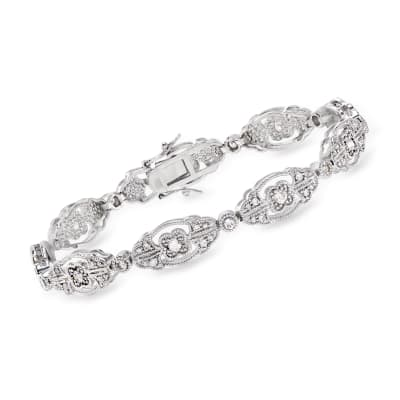 2.30 ct. t.w. CZ Bracelet in Sterling Silver