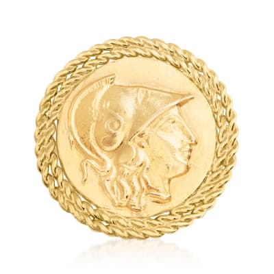 Italian Cameo-Style Ring in 18kt Gold Over Sterling