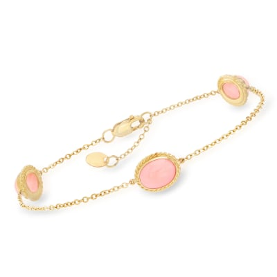 Coral Station Bracelet in 14kt Yellow Gold