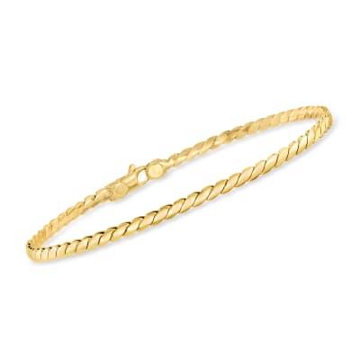 Italian 14kt Yellow Gold S-Link Bracelet