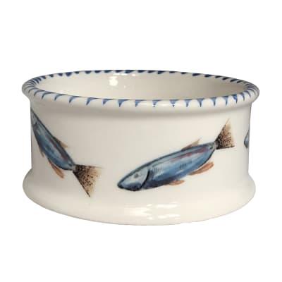 """Abbiamo Tutto """"School of Fish"""" Ceramic Pet Bowl from Italy"""