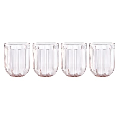 "Kate Spade New York ""Park Circle"" Set of 4 Rose Double Old-Fashioned Glasses"