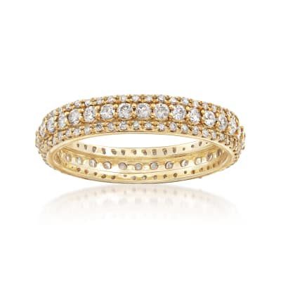 1.00 ct. t.w. Diamond Multi-Row Eternity Band in 14kt Yellow Gold