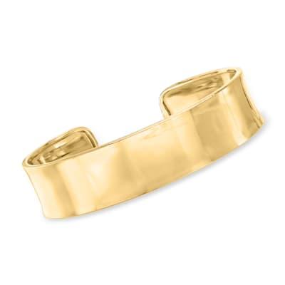 Italian 18kt Gold Over Sterling Polished Cuff Bracelet