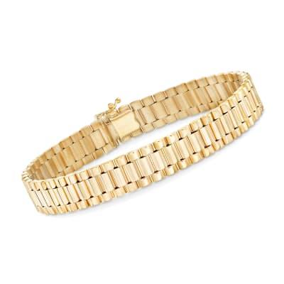 Men's 14kt Yellow Gold Link Bracelet