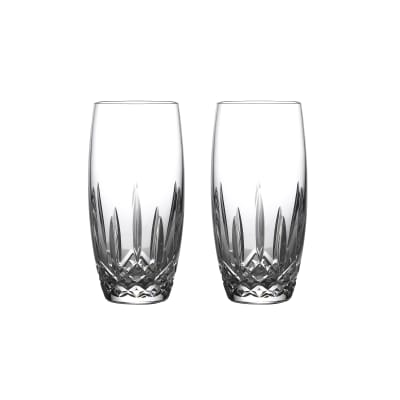 "Waterford Crystal ""Nouveau"" Set of 2 Lismore Beer Glasses"