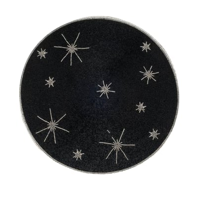 Joanna Buchanan Black and Silver Star Placemat