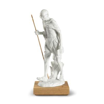 "Lladro ""Mahatma Gandhi - 150th Anniversary"" Porcelain Figurine"