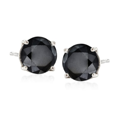 2.00 ct. t.w. Black Diamond Stud Earrings in 14kt White Gold