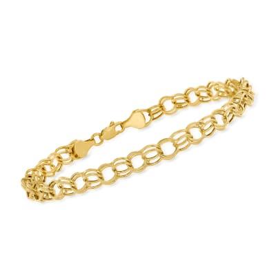 14kt Yellow Gold Circle-Link Bracelet