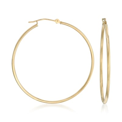 1.5mm 14kt Yellow Gold Extra-Large Hoop Earrings