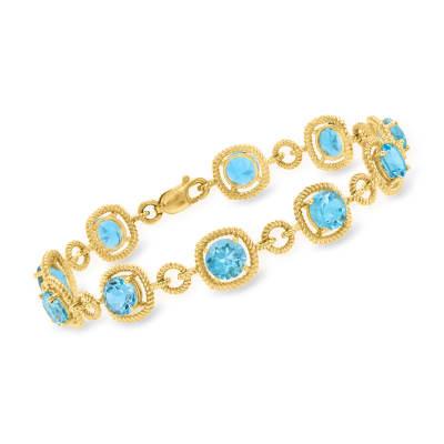 10.00 ct. t.w. Sky Blue Topaz Bracelet in 18kt Gold Over Sterling