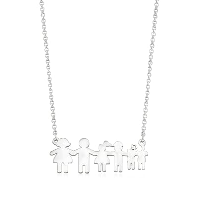 Sterling Silver Build-A-Family Personalized Necklace