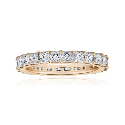 3.80 ct. t.w. Princess-Cut Diamond Eternity Band in 14kt Rose Gold