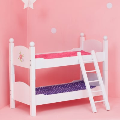 """Child's """"Little Princess"""" Doll Double Bunk Bed"""