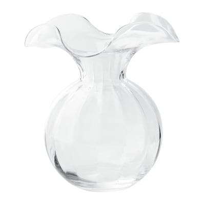 "Vietri ""Hibiscus"" Medium Fluted Glass Vase from Italy"