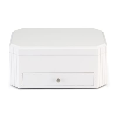 "Reed & Barton ""Lea"" White Wooden Jewelry Box"