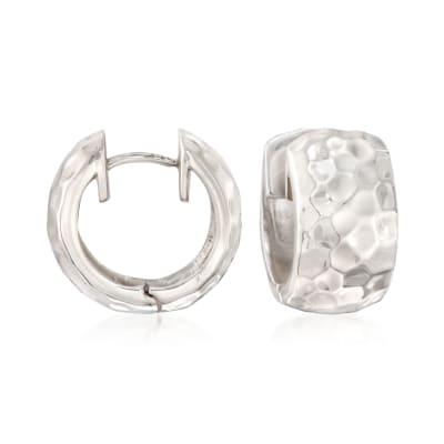 """Zina Sterling Silver """"Sahara"""" Huggie Hoop Earrings"""