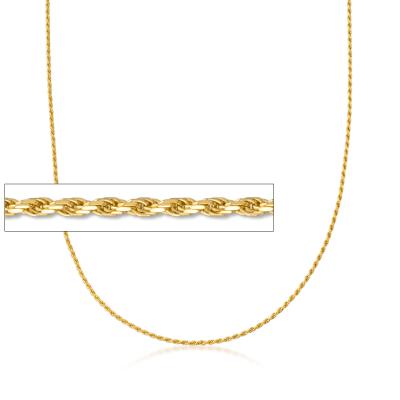 Italian 1.5mm 18kt Gold Over Sterling Adjustable Slider Rope Chain Necklace
