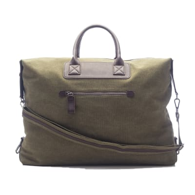 """Brouk & Co. """"Excursion"""" Hunter Green Waxed Canvas Weekender Bag"""