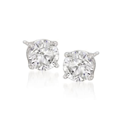 6.00 ct. t.w. CZ Stud Earrings in 14kt White Gold
