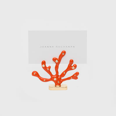 Joanna Buchanan Set of 2 Coral Place Card Holders