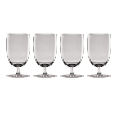 "Lenox ""Valencia"" Set of 4 Smoke All-Purpose Glasses"