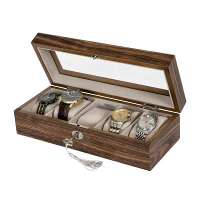 "Mele & Co. ""Laramie"" Wooden Locking Watch Box"