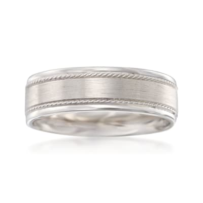 Men's 7mm 14kt White Gold Wedding Ring