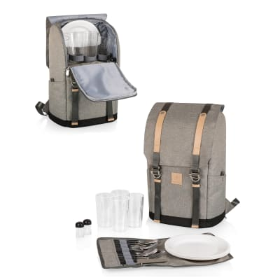 """""""Frontier"""" Heathered Gray Picnic Backpack Cooler"""