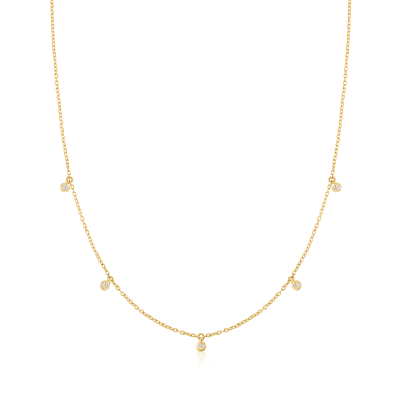 .10 ct. t.w. Diamond Station Necklace in 14kt Yellow Gold