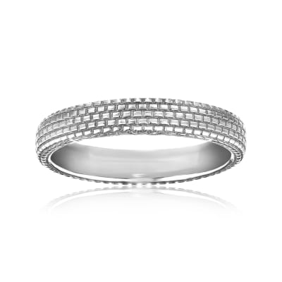 Men's Wedding Ring in 14kt White Gold