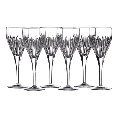 "Waterford Crystal ""Ardan"" Set of Six Mara Wine Glasses"