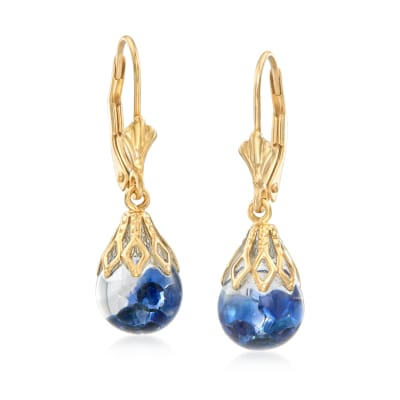 .70 ct. t.w. Floating Sapphire Drop Earrings in 14kt Yellow Gold