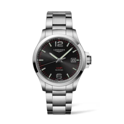 Longines Conquest V.H.P. Men's 43mm Stainless Steel Watch