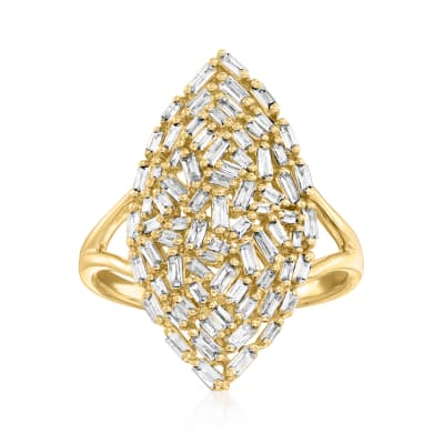 .65 ct. t.w. Diamond Marquise-Shaped Ring in 14kt Yellow Gold
