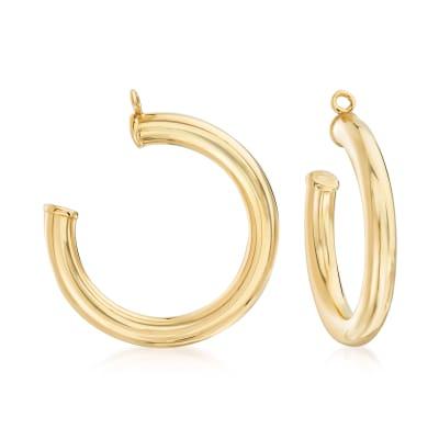 14kt Yellow Gold Hoop Earring Jackets