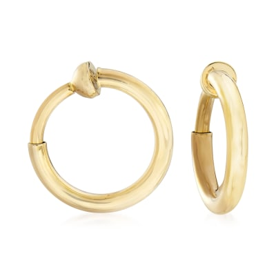 14kt Yellow Gold Small Clip-On Hoop Earrings