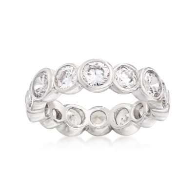 4.00 ct. t.w. CZ Eternity Band in Sterling Silver