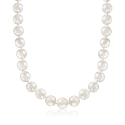 13.5-14mm Shell Pearl Necklace with Sterling Silver
