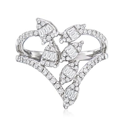 .50 ct. t.w. Diamond Open-Space Cluster Ring in 18kt White Gold