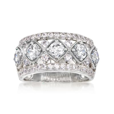 1.90 ct. t.w. CZ Ring in Sterling Silver