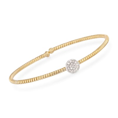 Simon G. .15 ct. t.w. Diamond Circle Bracelet in 18kt Yellow Gold